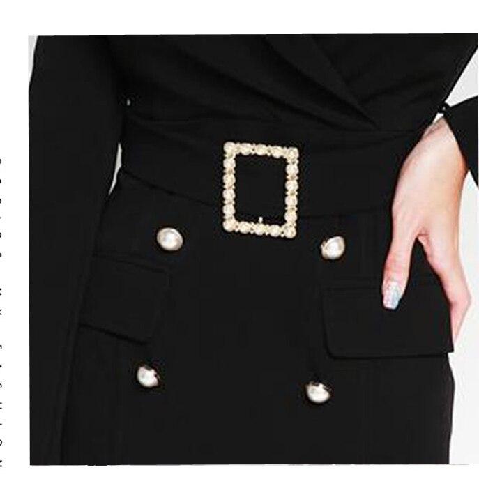 Ceintures Solide Avec Hots Manches Black Sashes Entaillé Élégante D8d410i Robe Taille Haute Femmes Office 2019 Moulante Col Lady With Nouvelles Des Blazer 6wqfSawxE