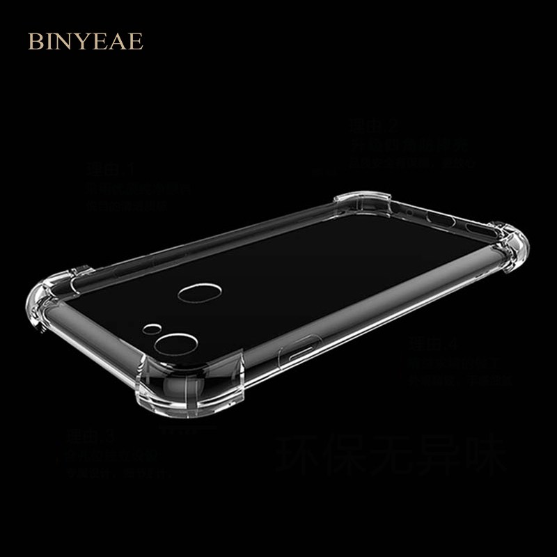 For OPPO F5 F7 Anti knock shock Proof Soft Clear Cover Transparent TPU Silicone Skin Bag Case For OPPO F5 Youth A73 A73T A79