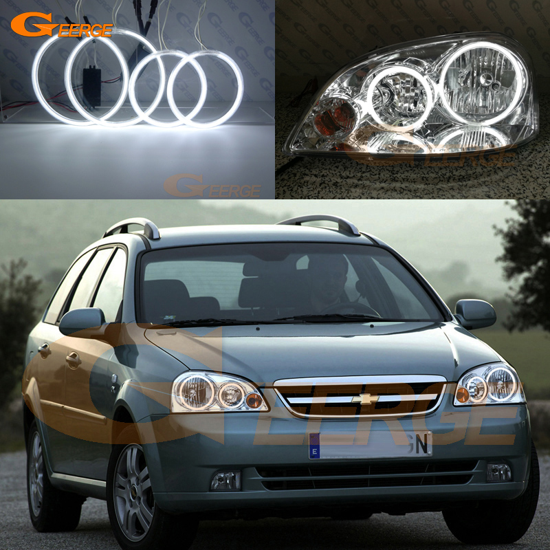 For Chevrolet Lacetti Optra Nubira 2002-2008 Excellent CCFL Angel Eyes kit Halo Rings Ultra bright ccfl illumination 4pcs ccfl angel eyes ring for ford for focus ii mk2 2004 2005 2006 2007 2008 9 16v dc ccfl car headlights angel eyes ring