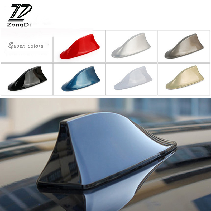Niome Shark Fin Antenna Aerial Signal Amplifier White Universal Fit for Most of Cars