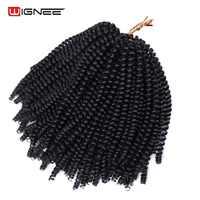 Wignee Frühjahr Curl Haar Stück Neue Ankunft Synthetische Haar Extensions Für Schwarze Frauen Häkeln Twist Zöpfe Afrika Amerikanischen Haar