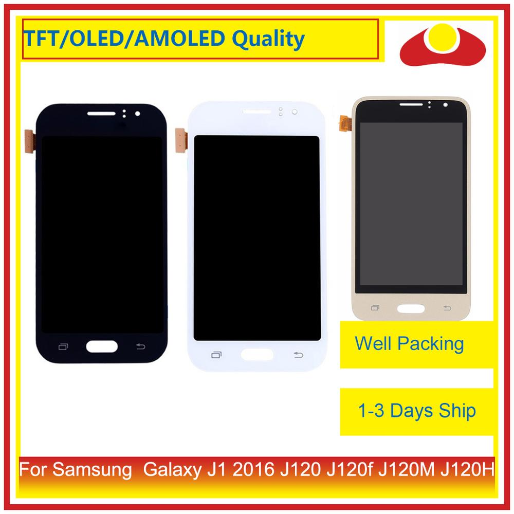"""Image 2 - ORIGINAL 4.5"""" For Samsung Galaxy J1 2016 J120 J120f J120M J120H LCD Display With Touch Screen Digitizer Panel Assembly Complete-in Mobile Phone LCD Screens from Cellphones & Telecommunications"""