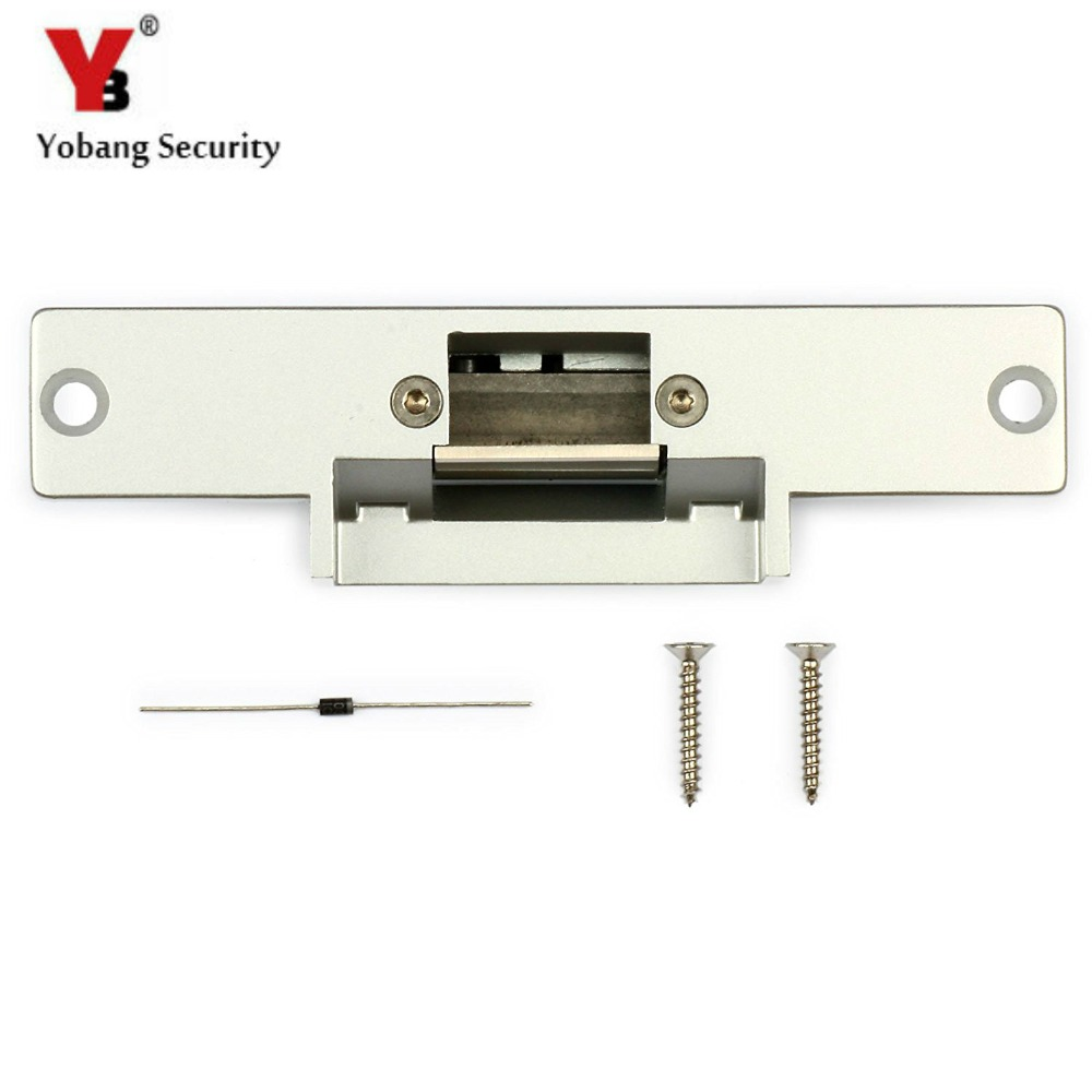 YobangSecurity Fail Secure NO Mode Electric Strike Lock for Wood Metal Door Access Control oc3001kn cathode lock fail secure ancillary electric strike for accecontrol
