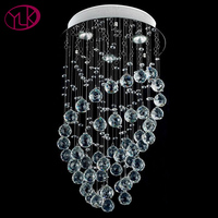 Free Shipping Hot Sales Dia35 H60mm Modern Crystal Chandelier Spiral Design Crystal Lamps For Home
