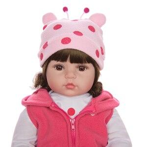 Image 5 - KEIUMI 뜨거운 판매 다시 태어난 아기 인형 장난감 천 몸은 기린 유아 생일 크리스마스 선물로 현실적인 아기 인형을 박제