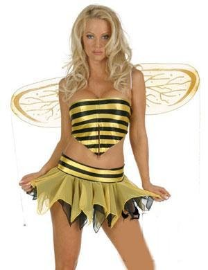 Women's <font><b>Sexy</b></font> Yellow Bee <font><b>Halloween</b></font> Fancy Dress <font><b>Sexy</b></font> <font><b>lingerie</b></font> party costume 9613 image