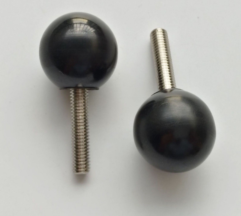 M5x(10mm 60mm Length) plastic ball head hand twist screw handle adjustable bolt knob screws bolts Black High Quality|Screws|   - AliExpress
