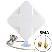 New 4G Antenna 35dBi SMA Male Aeria For Router E589 E392 ZTE MF61 MF62 Aircard 753s