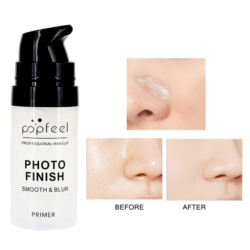 Base de cara imprimación de maquillaje líquido Control de aceite mate Base de la cara crema hidratante profesional Base de maquillaje brillo cosmético