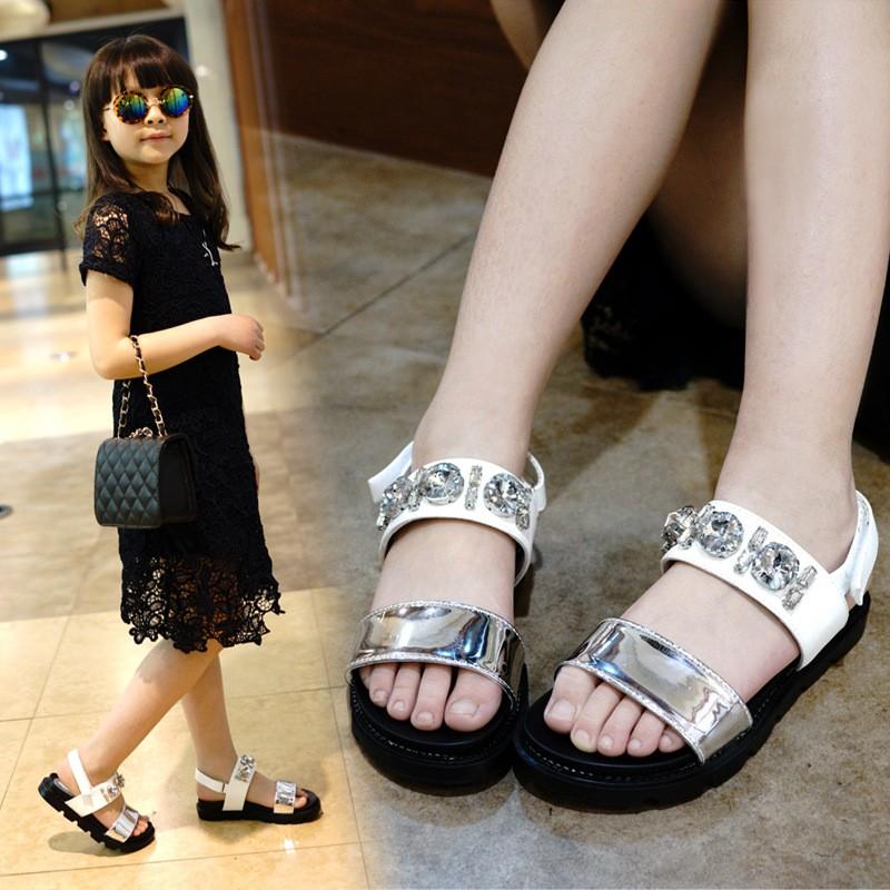 Girls Rhinestone Sandals (2)