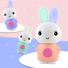 Glowing Ear Rabbit Story Rattles Baby Toys 0-12 Months Doll Educational For Newborns Mobile Toy Cot