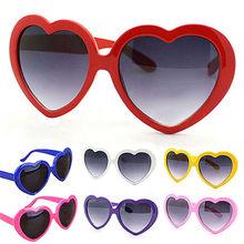 Senhoras em forma de coração óculos de sol metal marca feminina designer moda sem aro amor claro oceano lentes óculos oculos uv400