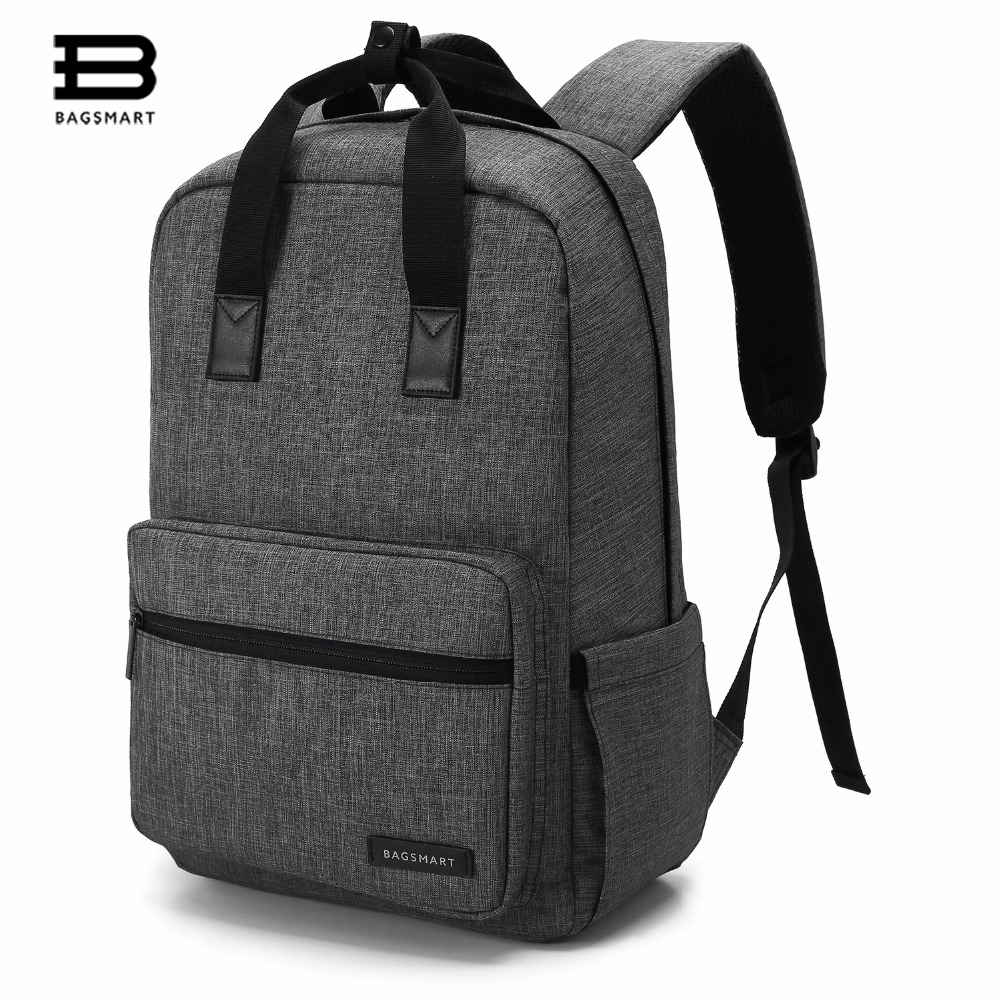BAGSMART Business Water Resistant Polyester Laptop Backpack  For  14 Inch Laptop and Notebook,Black bagsmart dslr slr camera shoulder bag water repellent polyester with rain cover green grey black