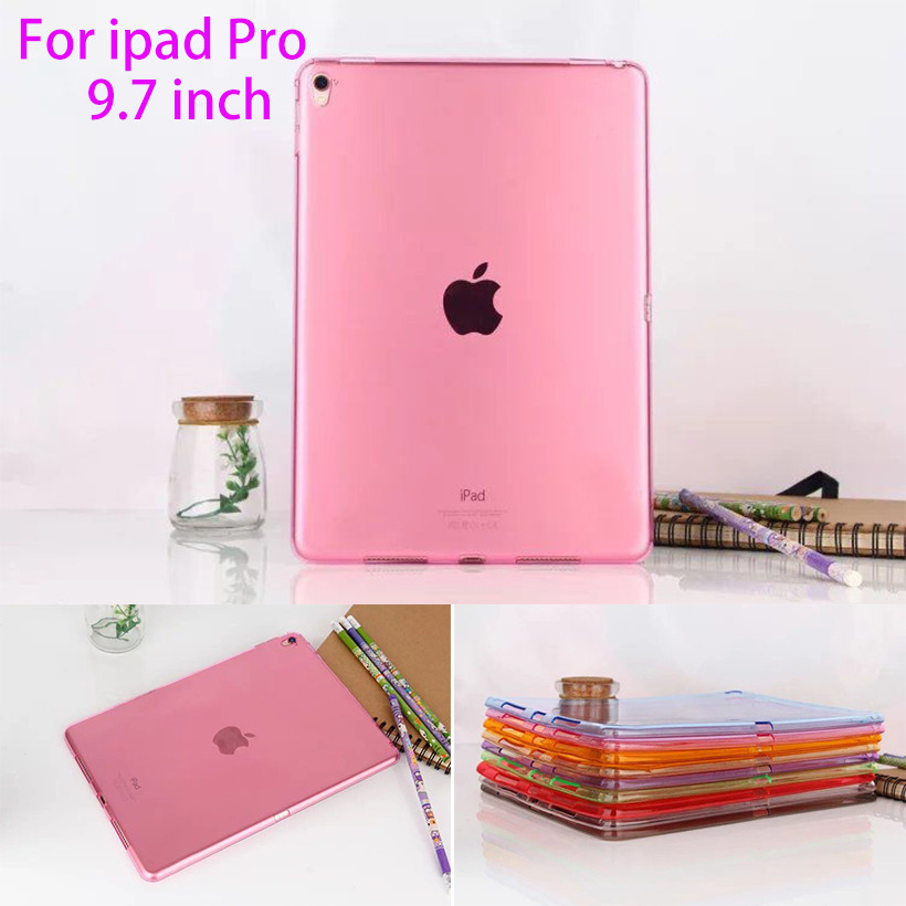 Soft Silicon TPU Case For Apple ipad pro 9.7 Back Cover Tablet Ultra Thin Clear Transparent Fundas Protective Bags Skin Shell surehin nice tpu silicone soft edge cover for apple ipad air 2 case leather sleeve transparent kids thin smart cover case skin