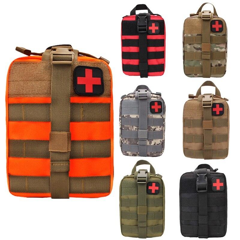 Multifuncional acampar riñonera escalada emergencia Molle Kits de supervivencia al aire libre Kit de viaje de primeros auxilios médico táctico bolsa