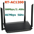 RT-AC1200 802.11AC 1200 Мбит/С (300 Мбит/С/2.4 ГГц + 867 Мбит/5 Г) Dual-Band беспроводной Wi-Fi Маршрутизатор Точка Доступа с 4-кратным 5dBi Антенны