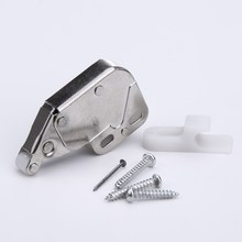 Mini Push Catch Latch Cabinets Anti-Theft Safety Cupboard Doors With Cross Keys For Furniture Hardware 34 x 27mm