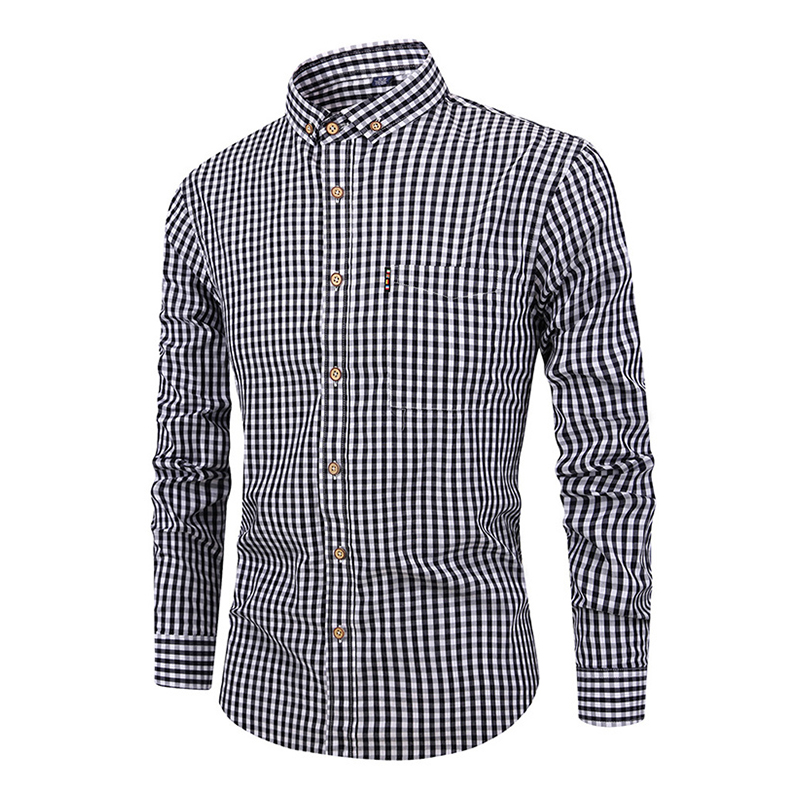Image 5 - DAVYDAISY 2019 New Arrival Spring High Quality Men Shirt 100% Cotton Shirt Long Sleeved Fashion Causal Slim Fit Male Shrit DS282-in Dress Shirts from Men's Clothing
