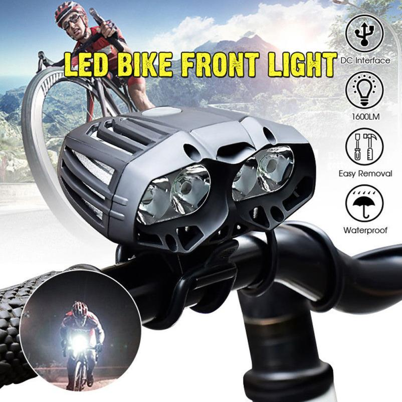 Road MTB T6 LED Bike Front Light Night Cycling Bycicle Headlamp USB Rechargeable