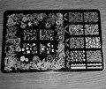 2017 NUEVO 14.5*9.5 CM HK Gran Nail Art Sello de Imagen Plate Raspador Plantillas DIY Nail Polish Art Manucure herramientas de HK-10, envío libre