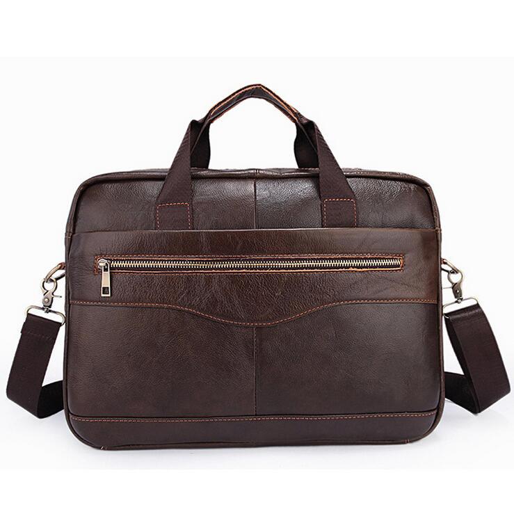 ФОТО Cowhide Men Crossbody Bags Men's Shoulder Bag Leather Handbags business Laptop bag