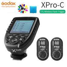 цена на Godox XPro-C Flash Trigger Transmitter with E-TTL II 2.4G Wireless X System HSS LCD Screen + 2x XTR-16 Receiver  for Canon DSLR