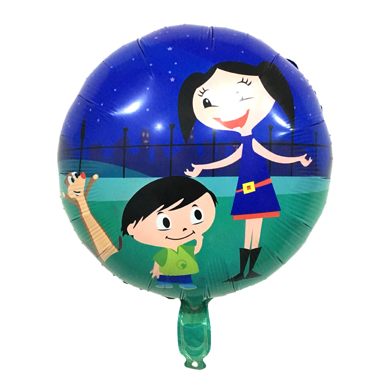 Free shipping 1 pcs 18inch Da luna Balloons Kids Toys Birthday Party Decorations Foil Ballon Cartoon Cute Helium Ballon