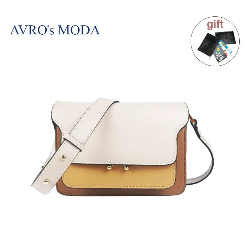 AVRO s MODA Brand genuine leather shoulder bags for women 2019 luxury handbags women crossbody bags