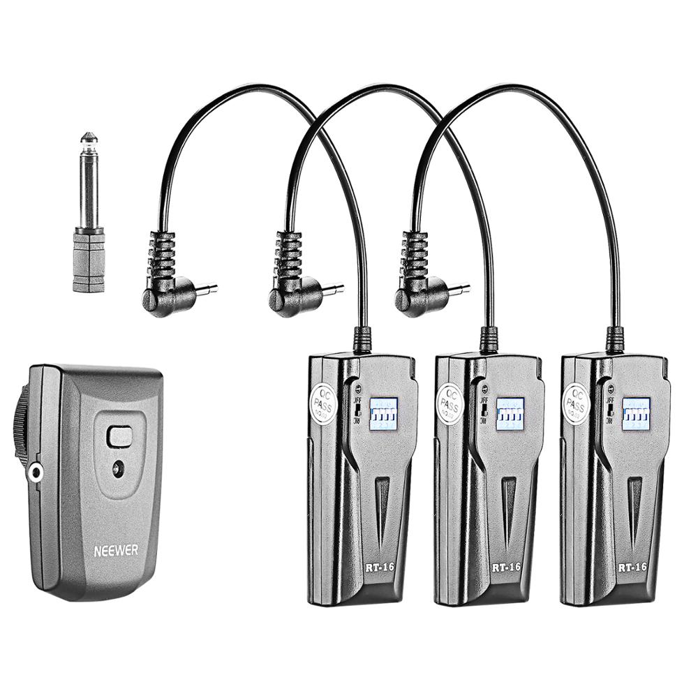 Neewer Wireless STUDIO Flash TRIGGER RT 16 with 3 RECEIVERS 16 Channel Shutter Release     - title=