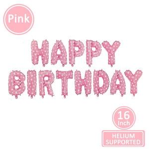 Image 5 - 16 インチハッピーバースデーホイルバルーン風船ベビー最初 1st 誕生日パーティーの装飾少年少女子供大人の誕生日ホオジロ装飾 1 年