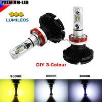 높은 전원 LED 헤드 라이트 전구 H4 H7 H8 H9 H11 H16 5202 9005 9006 H10 의해 구동 Luxeon LED 이동식 팬-히트 싱크