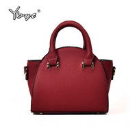 YBYT Brand 2018 New Simple Casual Top Trapeze Women Handbags Shopping Bag Coin Purses Ladeis Shoulder
