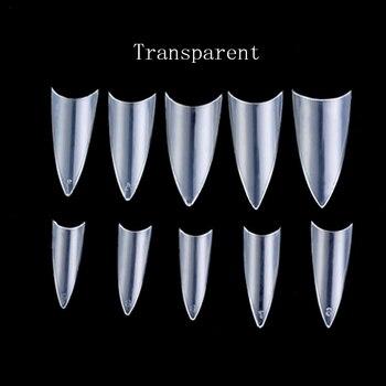 Romatpretty 500pcs Women French False Nail Tips Artificial Fake Nails Art Acrylic Manicure Nail Gradeint Tools Маникюр