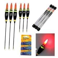 1Pcs 3.5g 4g 6g 10g Electronic LED Fishing Floats Buoy With Battery Night Glow Luminous Floating Float Bobbers
