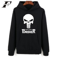 2017 Fashionn Punisher Skull Style Printed Hoodie Sweatshirt Men Women Hip Hop Streetwear Moletom Tumblr Homme