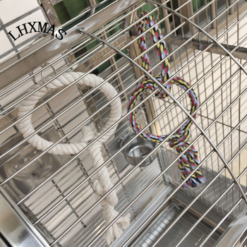 Big Parrot Toy Bird Cage Toy Parrot Swing Ring Toy White Color Bird Supplies T006 2