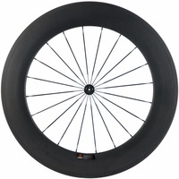 700C Full Carbon Wheel Front Tubular Road 88mm Rear Wheel Bicycle 700C Wheelset 25mm U Shape Bike Wheels