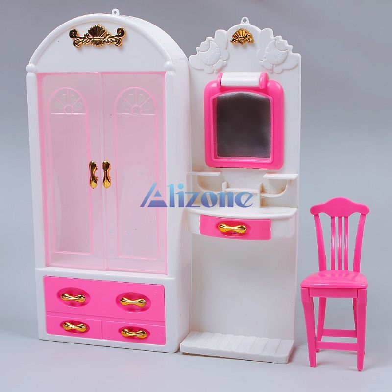 Genial New Kid Pink Bedroom Dollhouse Furniture Makeup Table Mirror Chair Doll  House Toys For Girls SBIC #60391 In Furniture Toys From Toys U0026 Hobbies On  ...