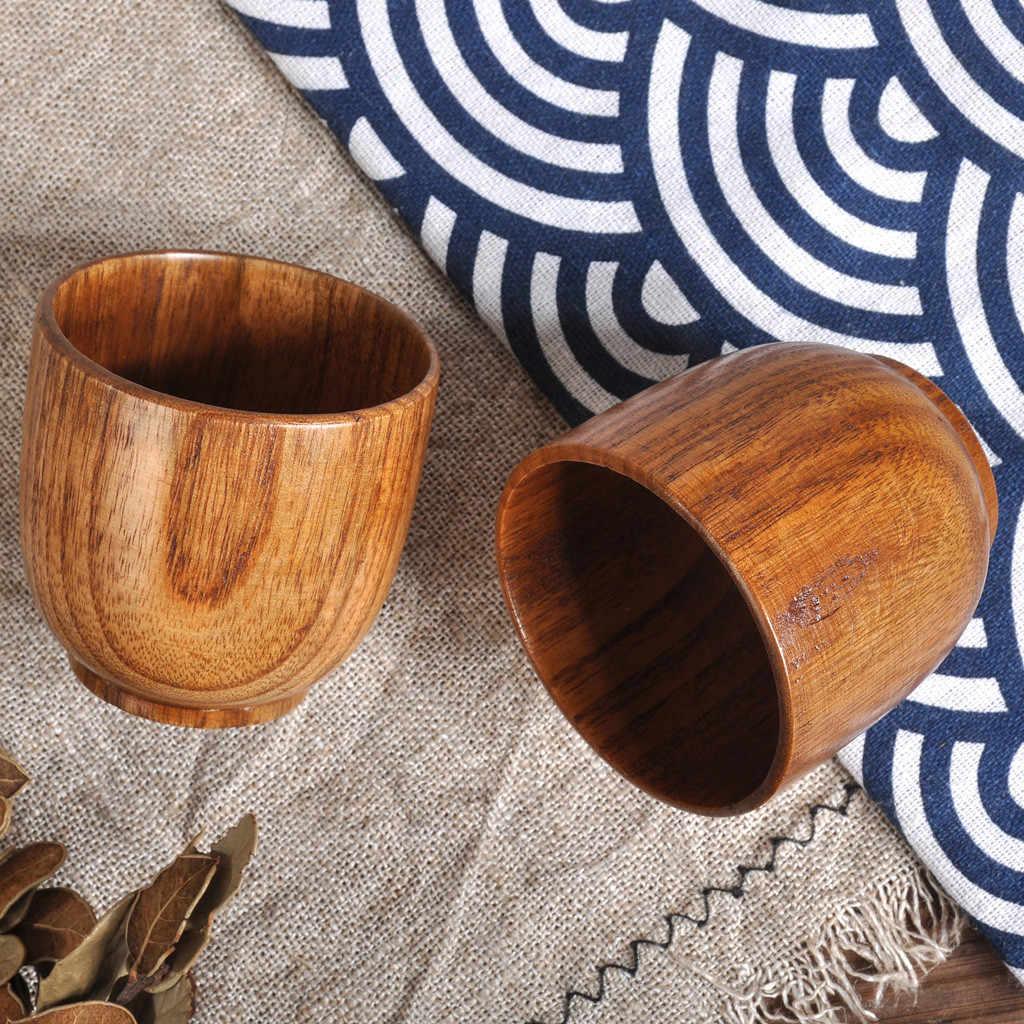 1 قطعة جديد خشبية كوب الخشب القهوة الشاي البيرة عصير الحليب مج مياه بدائية اليدوية الخشب الطبيعي كوب 2019 Hot البيع