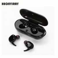 Wireless Bluetooth Earphones Stereo Binaural Sports Earbuds In Ear Earphone Built In Microphone With Chargeable Mini