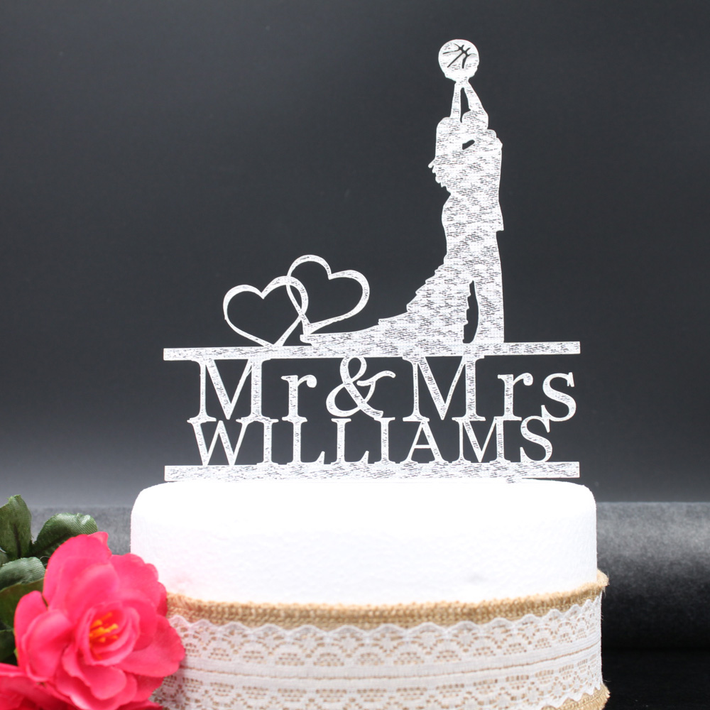 Free Shipping Love Bride Groom Personalized Acrylic Cake Topper Customized Wedding Mr Mrs In Decorating Supplies