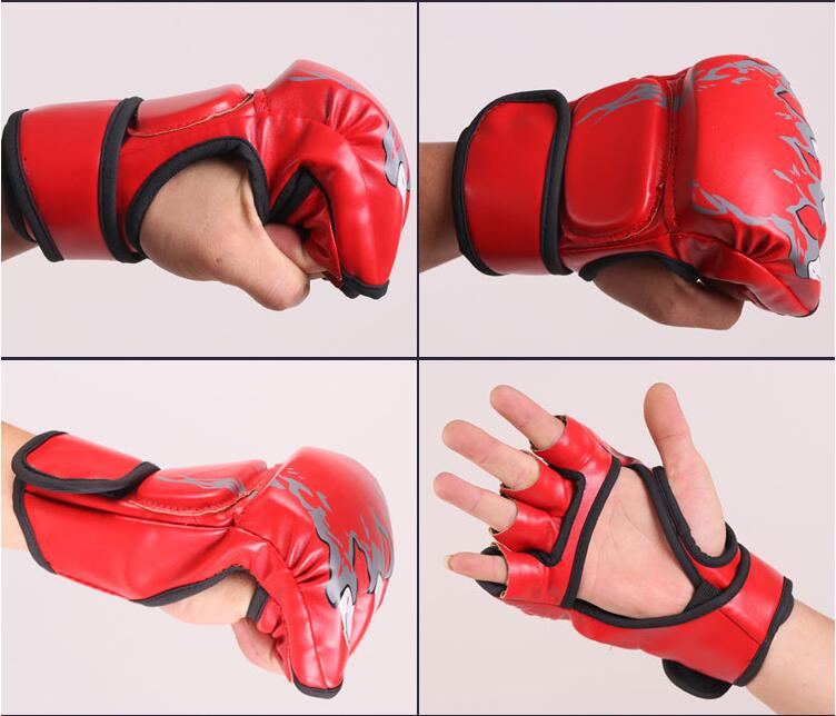 Skull Ferocious Fighting Boxing Gloves MMA Tiger Muay Thai Sports PU Hand Target