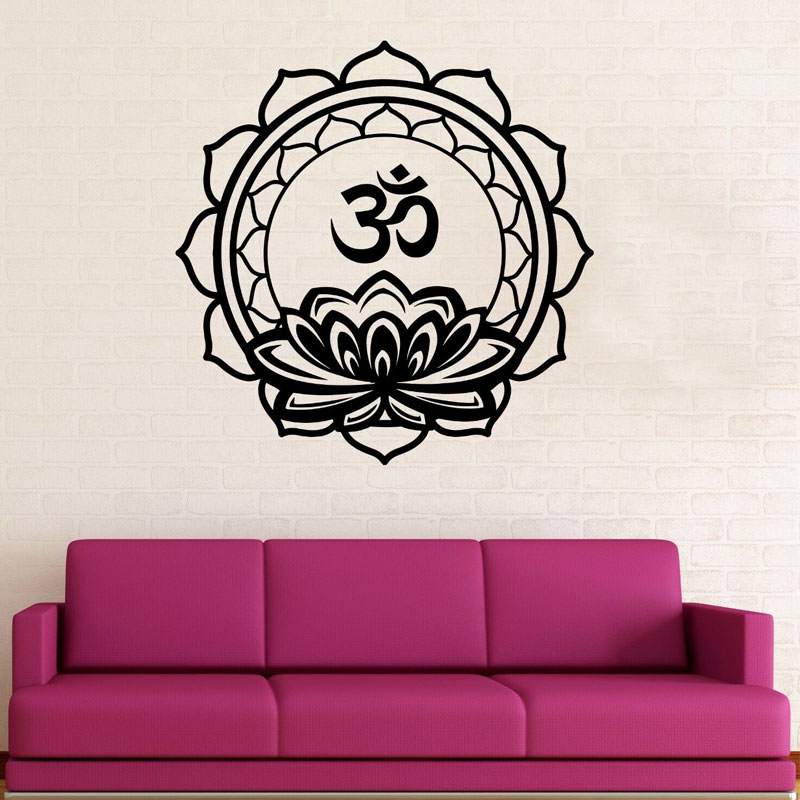 Flower Mandala New Design Meditation Yoga Studio Decor Zen Decal Bedroom Living Room Removable Vinyl Wallpapers Ba732 2 Buy At The Price Of 12 98 In Aliexpress Com Imall Com