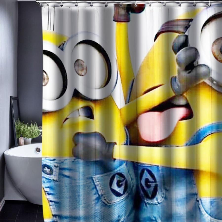 Customized Shower Curtain Minions Shower Curtain Pattern Waterproof Bathroom Fabric Shower Curtain For Bathroom 150x180cm