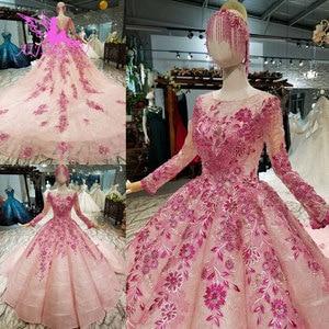 Image 2 - AIJINGYU อินเดียชุดแต่งงานลูกไม้ Gowns VINTAGE Coat คู่ซื้อใหม่หรูหราเงาสีขาวชุดบอลชุด