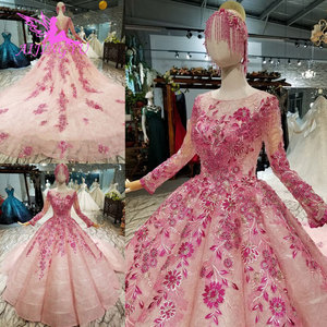 Image 2 - AIJINGYU Indian Wedding Dress Lace Vintage Gowns Coat Bridals Buy New Shiny Luxury White Ball Gown Dresses