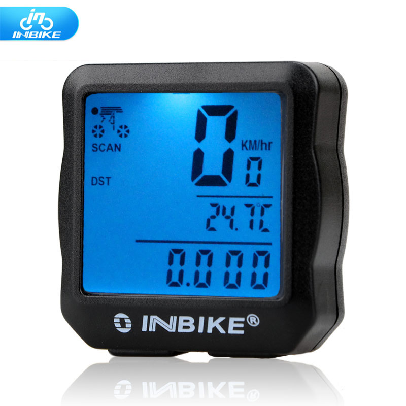INBIKE bicycle computer waterproof backlit cable digital speedometer cycle Velo odometer 528