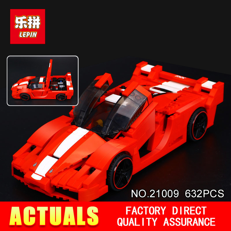 New Lepin 21009 632Pcs Genuine Creative Series The Out of Print 1:17 Racing Car Set Building Blocks Bricks Toys car model scene 1 18 car girl dolls out of print