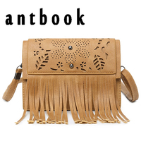 Antbook Women Clutch Bags High Quality Tassel Hollow Out Messenger Bags Girl Small Shoulder Bags Vintage