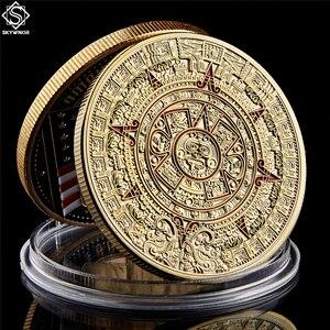 Коллекционные монеты из золота, календарь майя, искусство, пророчодеяние, культура 1,57